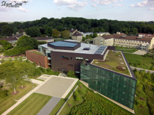 Skye Cam Productions Drone for hire Baltimore Maryland Goucher College Ath Library Aerial